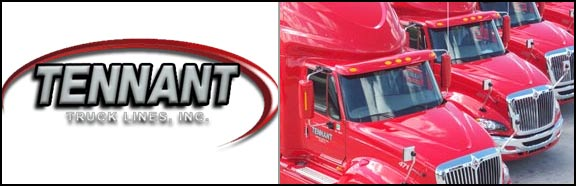 Tennant Truck Lines is hiring Company Drivers